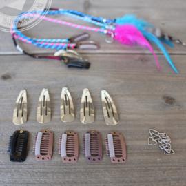 Clip-inn benodigdheden IBIZA Hairwraps van draad 10 stuks.