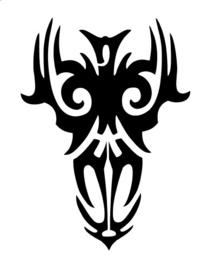 #61700 Tribal Skull sjabloon