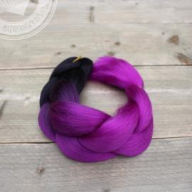 Vlecht Ombre Black/  Pink