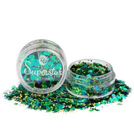 Chunky Glitter Peacock