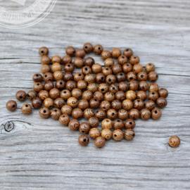 Wooden beads 'Bali' 8mm / 100 stuks