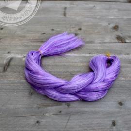 Vlecht Lilac hair/Purple tinsels