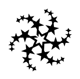 #64600 Stars Circle sjabloon