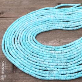 Shell Beads Light Blue