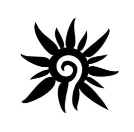 #30200 Flower Spiral sjabloon