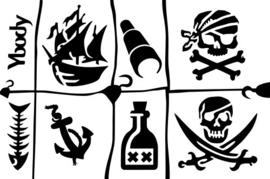 #53004 Pirates thema stencil