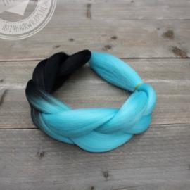 Vlecht Ombre Black/ Turquoise
