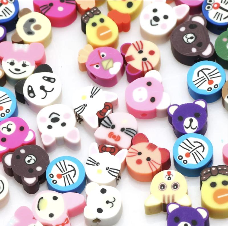 Polymer Clay Beads Animal (30 stuks)