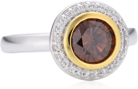 Zilveren ring Diamonfire