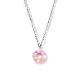 Zilveren ketting met donut Naiomy Princess