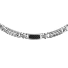 Collier staal met carbon 134408