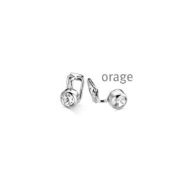 Zilveren clips oorringen O/2041/A