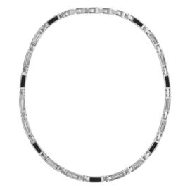 Collier staal met carbon en staaldraad 134408
