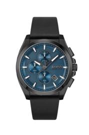 Hugo Boss uurwerk met blauwe wijzerplaat en zwart lederen band