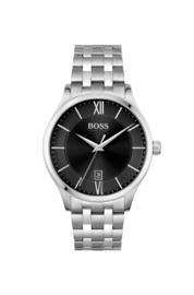 Hugo Boss uurwerk met zwarte wijzerplaat en stalen band