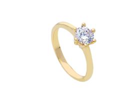 Ring 18 Kt geelgoud met zirconium