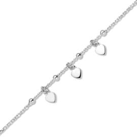 Armband hartjes Naiomy Princess zilver