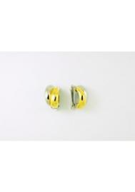 Bicolor clips oorringen O/2399