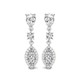 Zilveren oorringen Diamonfire