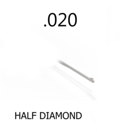 Half Diamond 0.020 Thick