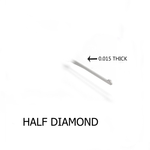 Half Diamond 0.015 Thick