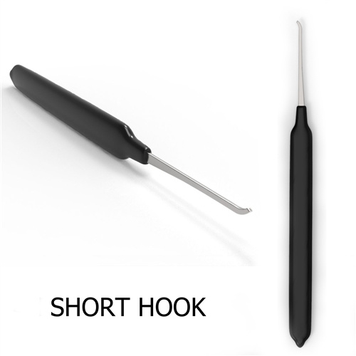 Short Hook 0.025 thick with rubber handle