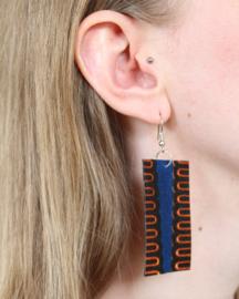 Blauwe Afrikaanse oorbellen hangers