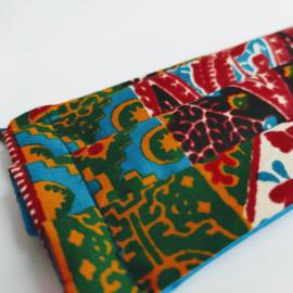 Niet-medisch mondkapje Afrikaanse print | Roodkleurige batik