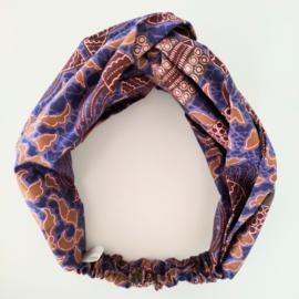 Paarse haarband van Afrikaanse stof