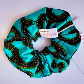Groene scrunchie van Afrikaanse stof