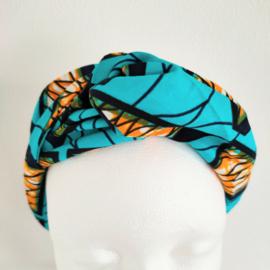 Zeegroene haarband van Afrikaanse stof