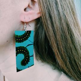 Groene Afrikaanse oorbellen hangers
