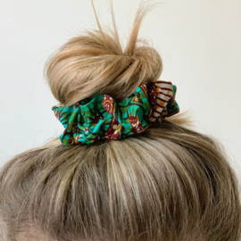 Low-Waste Afrikaanse print scrunchies