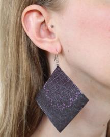 Grote paarse Afrikaanse oorbellen hangers