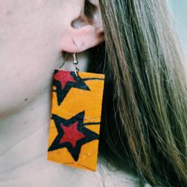 Oranje Afrikaanse oorbellen hangers