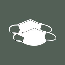 Setje van twee niet-medische mondkapjes Afrikaanse print