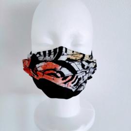 Niet-medisch mondkapje Afrikaanse print | Meerkleurige Adire