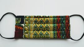 Niet-medisch mondkapje Afrikaanse print | Groen gele batik