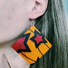 Grote oranje Afrikaanse oorbellen hangers