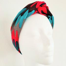 Oranje haarband van Afrikaanse stof