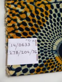 Kleine Blauw/Geel scrunchie van Afrikaanse stof