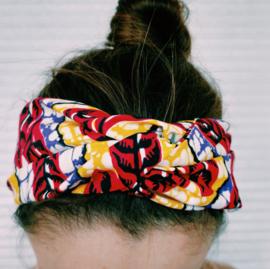Roze haarband van Afrikaanse stof