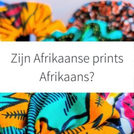 Zijn Afrikaanse prints Afrikaans?