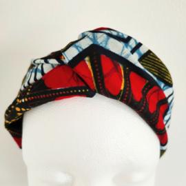Rode haarband van Afrikaanse stof