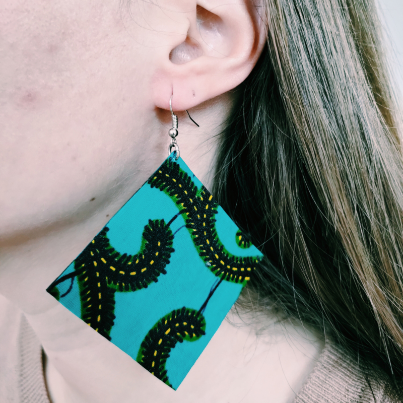 Grote groene Afrikaanse oorbellen hangers