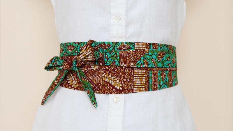 Groene wikkelriem van Afrikaanse stof
