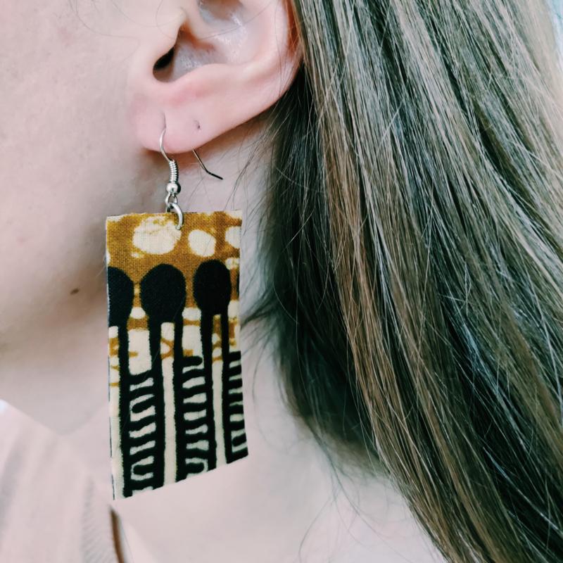 Bruine Afrikaanse oorbellen hangers