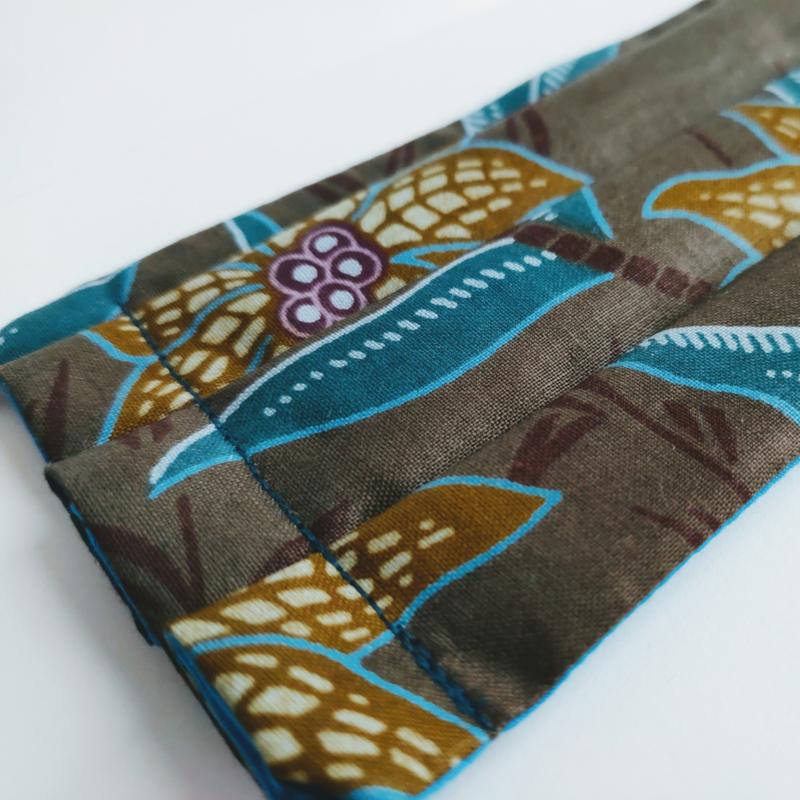 Niet-medisch mondkapje Afrikaanse print   Paarse bloemen