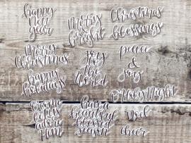 Sentiments Christmas (bruin)