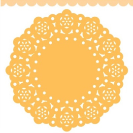 Doodlebug Mini Paper Doilies 7.5cm - Tangerine (5 stuks)